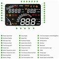 Wilress bluetooth HUD проектор дисплей 4 дюймов ip дисплей с OBD2 интерфейса миль в час предупреждения ускорения