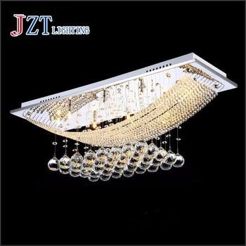 Z L100x W25 x H60cm moderna lampada di cristallo led Rettangolare soggiorno luce Sala droplight camera da letto luci ristorante lampadario