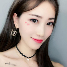 Korean jewelry 2019 new earrings personalized face hollow earrings face oval earrings Earrings For Women Oorbellen(China)