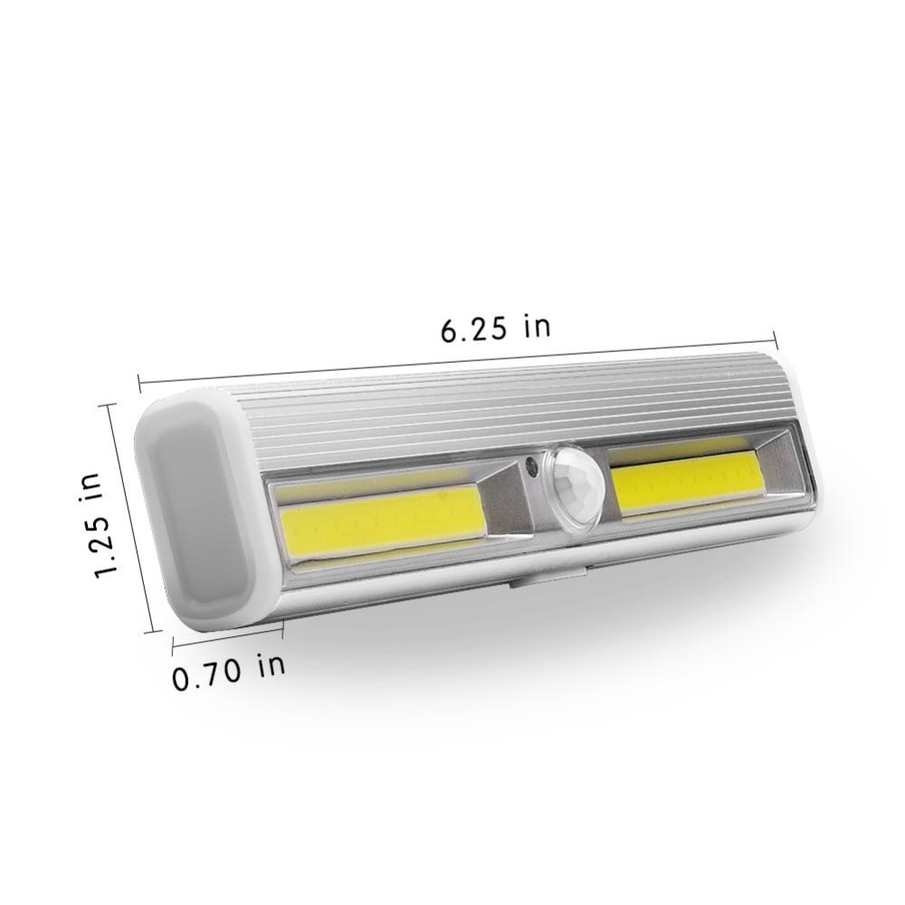 PANYUE 10 stücke LED Unter Kabinett Licht Motion Sensor Lampe beleuchtung für Schrank Schrank Schrank Küche nacht licht magnet - 2