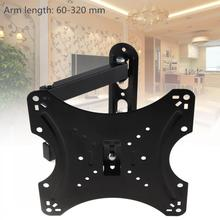20KG Adjustable TV Wall Mount Bracket Flat Panel TV Frame Support 15 Degrees Tilt with Gradienter for 14-42 Inch LCD LED Monitor