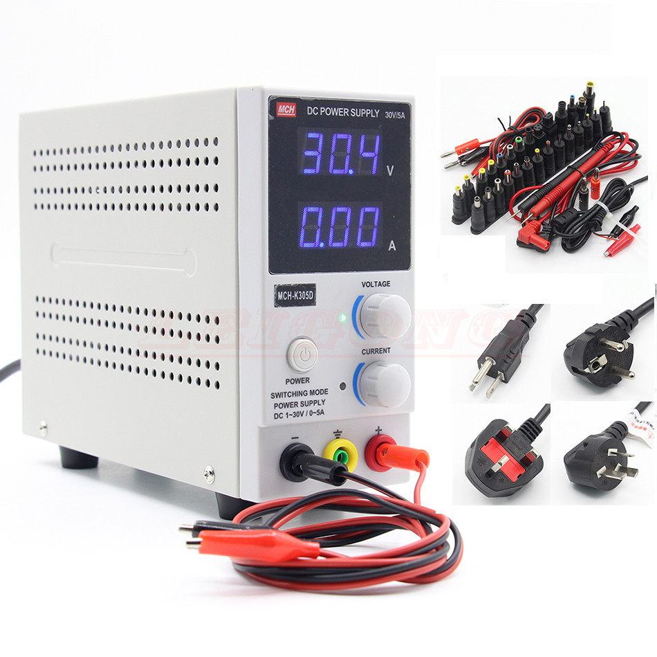 New Design MCH-K305D Mini Switching Regulated Adjustable DC Power Supply SMPS Single Channel 30V 5A Variable (110V US 220V EU) 30v 5a adjustable dc regulated power supply smps 110v 220v regulated stablizers phone maintenance digital power supply
