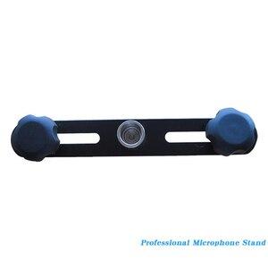Image 5 - FELYBY Mikrofon Bar Dual Mic Halter Mikrofon Stereo Bar Schwarz T Bar Halterung Mit Doppel Mikrofon Halterungen