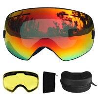 LOCLE UV400 Ski Goggles Anti Fog Ski Glasses Double Lens Snow Skiing Snowboard Goggles Ski Eyewear