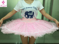 2015 New Arrival Pink Half Ballet Tutu With Lace White Practicing Ballet Tutu Pink Professional Ballet