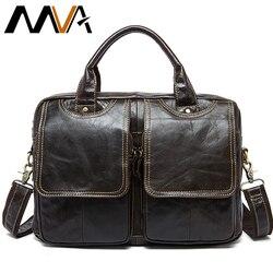 MVA männer tasche/aktentasche leder büro/laptop tasche für männer echte leder tasche business dokument mann aktentasche handtasche 8002-1