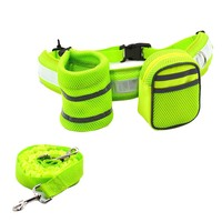 3 In 1 Hands Free Dog Leash Kit Pet Strap Lead Safety Traction Rope With Adjustable