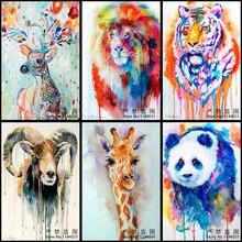 5d Diy Diamant Mosaik Tier Diamant Stickerei Weihnachten 3D Diamant Malerei Deer Lions Und Tigers Panda Bilder Wohnkultur