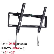 """General Ultra Slim Plasma Tilted TV Mount Monitor LCD LED HD TV Stand Wall Mount Bracket Fit for 26"""" 55"""" Max Support 40KG Weight"""