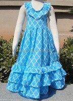 2018 retail party mode meisjes casual katoenen jurk lente meisje jurken kinderen kleding KP-MR15