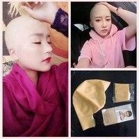 1 PCS Reusable Natural Latex Skin Head Monk Nun Bald Cap Wig Halloween Party Props Comedy