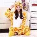 Onsie Мультфильм для взрослых жираф комбинезон животных onesies фланели животных пижамы one piece косплей женщин взрослый жираф onesie mujer