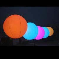 Free Shipment Giant 2m Diameter Inflatable Pvc Lighting Balloon For Christmas