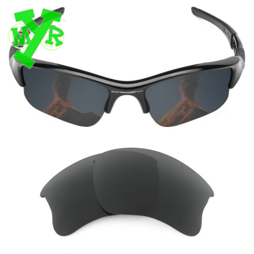MRY Emerald Green   Stealth Black 2 Pair POLARIZED Replacement Lenses for  OAKLEY Sunglasses FLAK JACKET XLJ Frame-in Sunglasses from Men s Clothing  ... d4bf6bea8f
