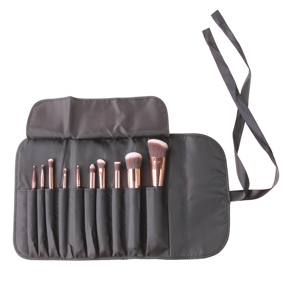 10pcs Makeup Brush Set Kits  Professional Cosmetic Contour Shadow Eyeliner Face Blush Powder Foundation Brush with Bag case 12pcs professional soft cosmetic face brush finishing powder blush brush sets for women with red cloth bag