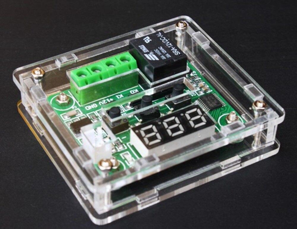 XH-W1209 цифровой термостат Высокоточный регулятор температуры акриловый корпус + материнская плата