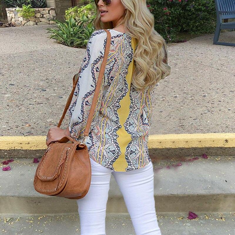 Autumn Casual Shirt Women Clothes Streetwear Fashion Print Drawstring V-Neck Long Sleeve Sexy Ladies Tops Vetement Femme 2018 (25)