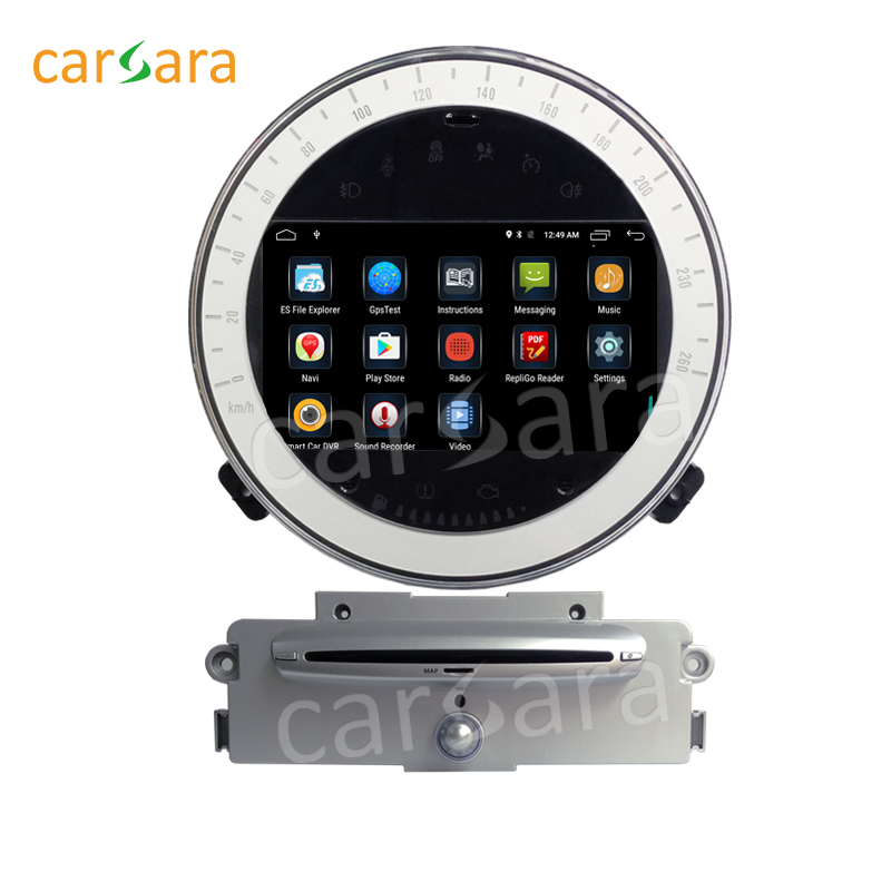 Car Android 6.0 Radio for Mini Cooper 2007-2011 with silver cd player 2 Din GPS Navigation Stereo Device Head Unit Player