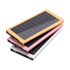 Image 1 - 1 sztuk 7566121 Powerbank na energię słoneczną przypadku Powerbank pokrywa puste DIY opakowanie na power bank Dual USB zestaw ładowarka latarka