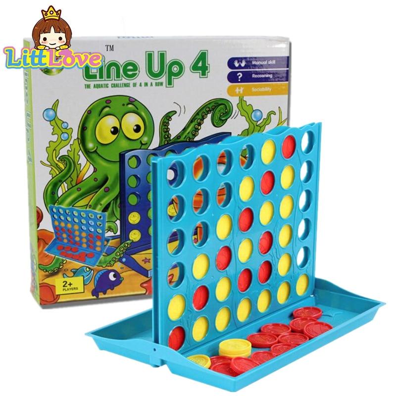 LittLove 2017 Besar Saiz Empat Dengan Catur Kanak-kanak Mainan Pendidikan Awal 1 Set Kanak-kanak Mainan-Bingo Line Up 4 Mainan Permainan Untuk Kanak-kanak