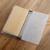 Traveler notebook s notebook enchimento de papel recarga organizador de papel inserções diário armazenamento titular papelaria