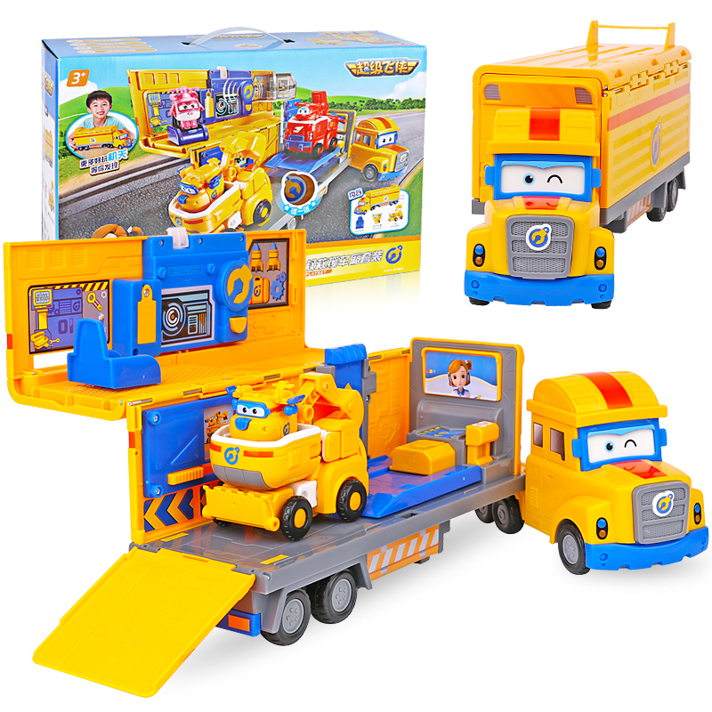 2018 Newest ABS Super Wings Poppa Deluxe Multiple Scene Deformation Rescue Vehicle with Sound Combination Toys2018 Newest ABS Super Wings Poppa Deluxe Multiple Scene Deformation Rescue Vehicle with Sound Combination Toys