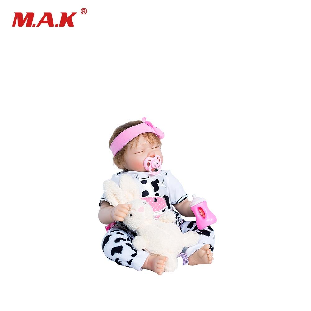 Игрушки для детей 45 см закрытыми глазами силикона Reborn Baby куклы живой Bebes Reborn де силиконовые Boneca реборн силиконовая Completa