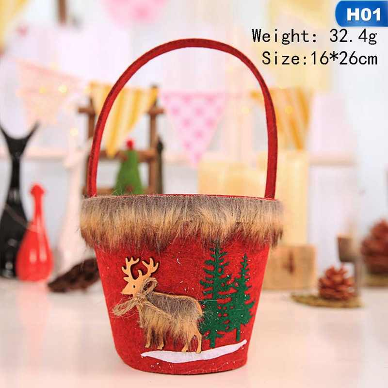 Счастливый новогодний Рождественский подарок Рождественская Снежинка конфеты Tote рождественские украшения Бесплатная доставка