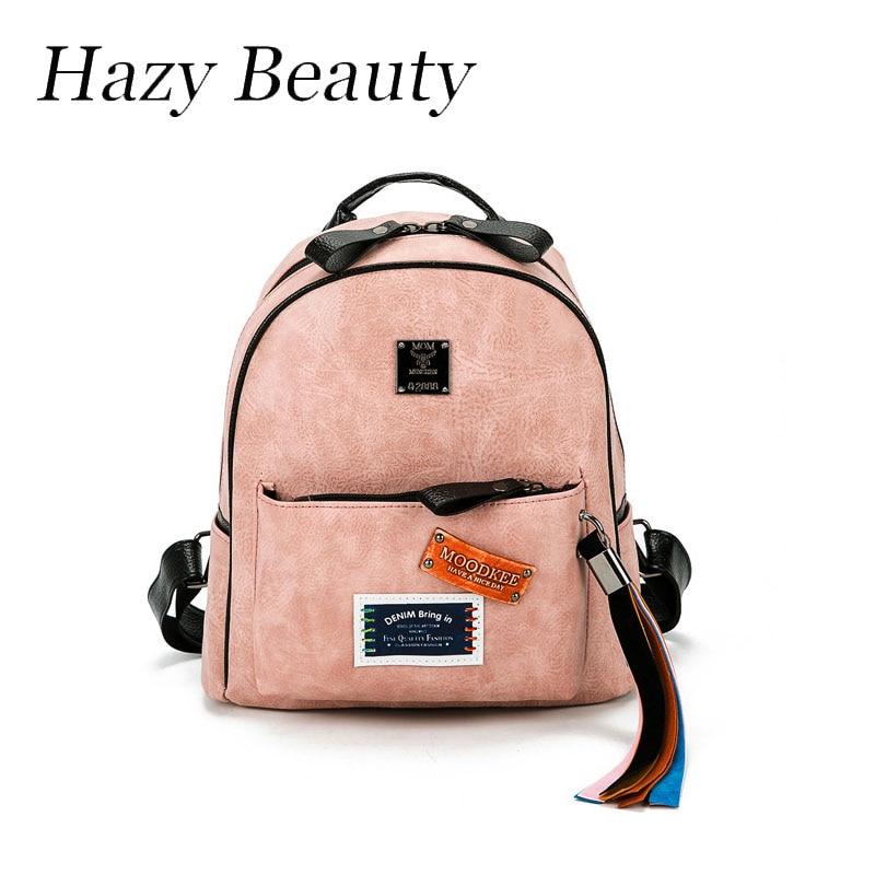 Hazy beauty New stamp hot design font b women b font rainbow fringe font b backpack