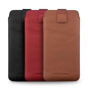 """Image 5 - QIALINO Leather wallet Case for iphone 11 Pro Max new Pouch for iphone 6 plus 7/8 plus 5.5"""" Leather with Card Slot Luxury Case"""