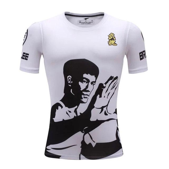 2016 Xxs-3xl Hombres Compresión Camiseta Aptitud Camiseta de Lycra Transpirable pista Camiseta Para Niños/Niños Bruce Lee Tops
