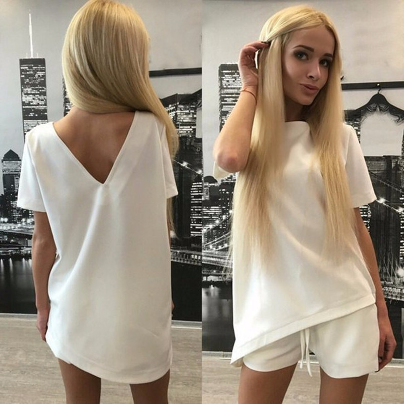 Summer Tracksuit Short Sleeve Sweatshirt Sexy Comfortable Casual Women Clothing 2 Piece Set Tops Pants Sporting Suit Female in Women 39 s Sets from Women 39 s Clothing