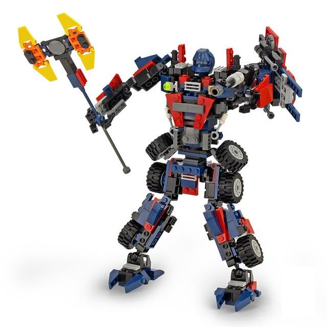 8713 377pcs Robot Constructor Model Kit Blocks Compatible LEGO Bricks Toys for Boys Girls Children Modeling