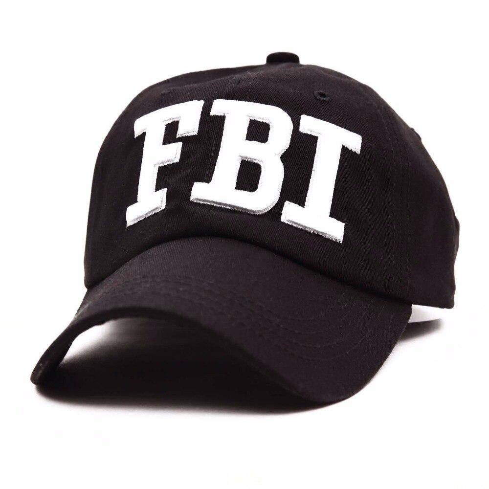 Wholesale Retail Leisure embroidery FBI baseball cap