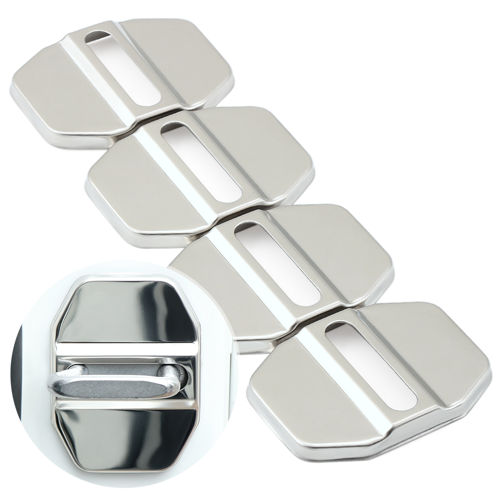 Car Styling Car Door Lock Covers stikcer Case for Mercedes Benz GLK GLA C E GLC Class Auto Car-Styling 4pcs lot