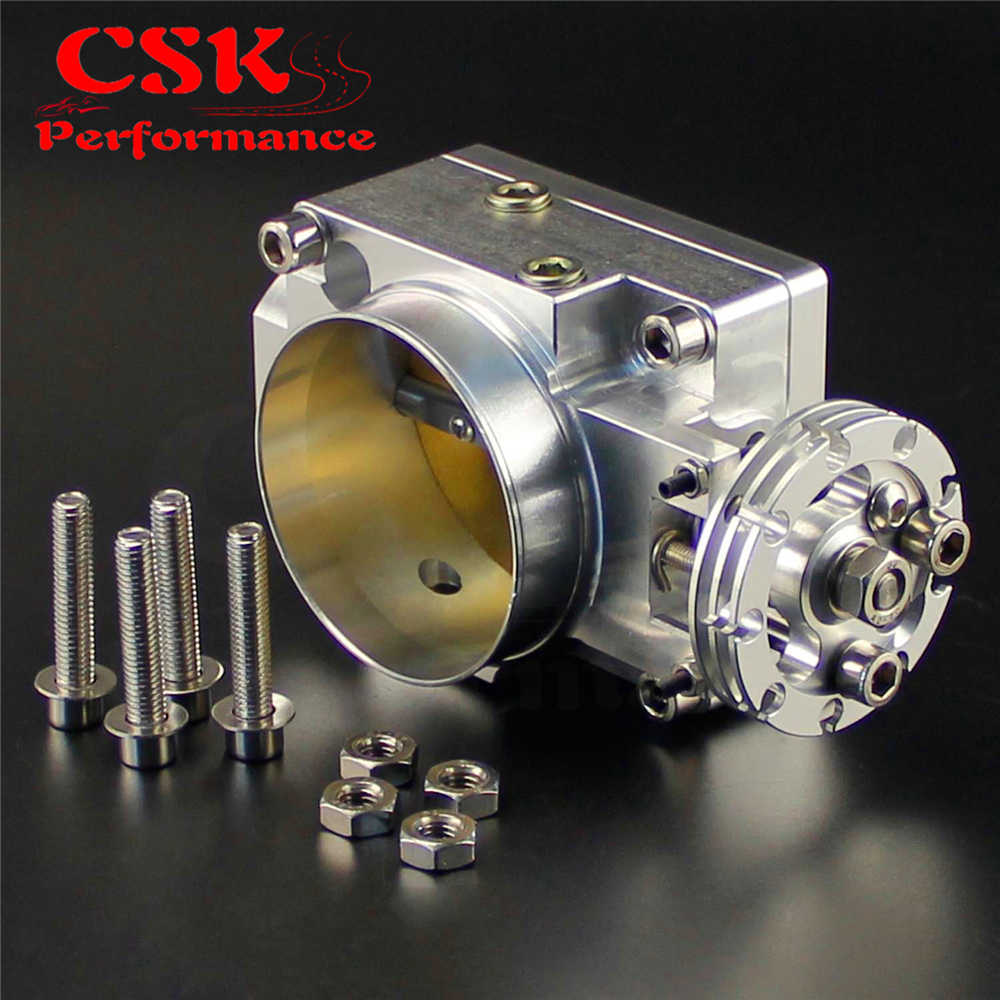 70mm Throttle Body Fits For Nissan Silvia SR20 S13 S14 S15 SR20DET 200SX  240SX Silver