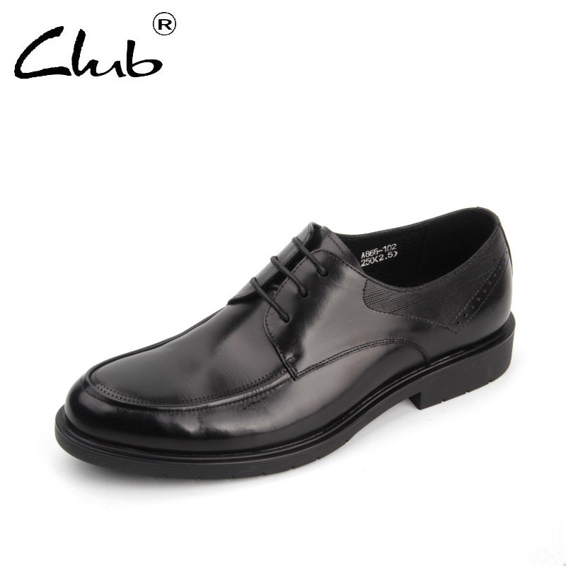 Club Fashion Genuine Leather Flats Black Lace-up Oxfords British Style Bullock Business Men Office Dress Shoes Zapatos Hombre new fashion men business office formal dress solid genuine leather shoes lace up pointed toe flats oxfords shoe spring autumn