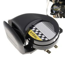 цена на DC 12V 30W Single Sound Snail Horn Claxon Horns for Motorcycles Bicycles Automobiles Cars Vehicle Truck