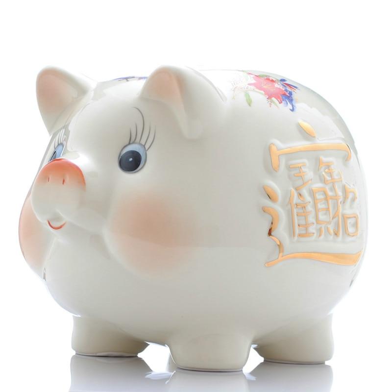 Ceramic Coin Bank Piggy Bank for Money Creative Cute Pig ...