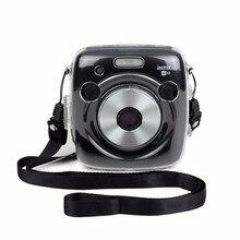 Fujifilm Instax מצלמה כיכר SQ10 Crystal Case תיק כתף רצועת PVC שקוף מגן סרט מיידי. פגז מצלמה כיסוי
