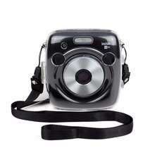 후지 인스탁스 광장 SQ10 카메라 크리스탈 케이스 PVC 투명 스트랩 어깨 가방 보호기 인스턴트 필름. 카메라 쉘 커버