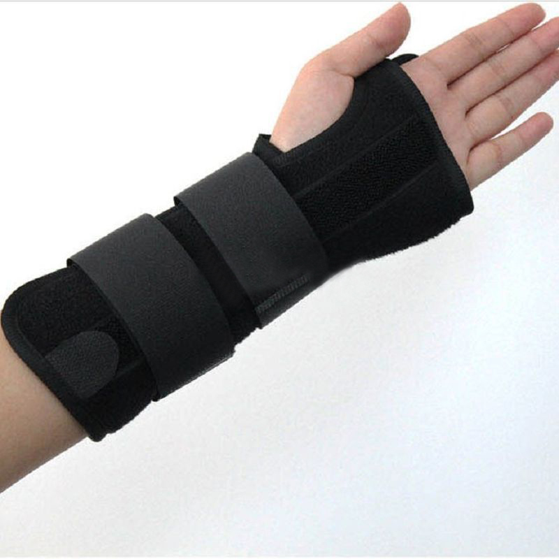 Black Wrist Support Left/Right Hand Cushions Support Wrist Brace Strap Protector Adjustable Fitness Weight Lifting Anti-skid
