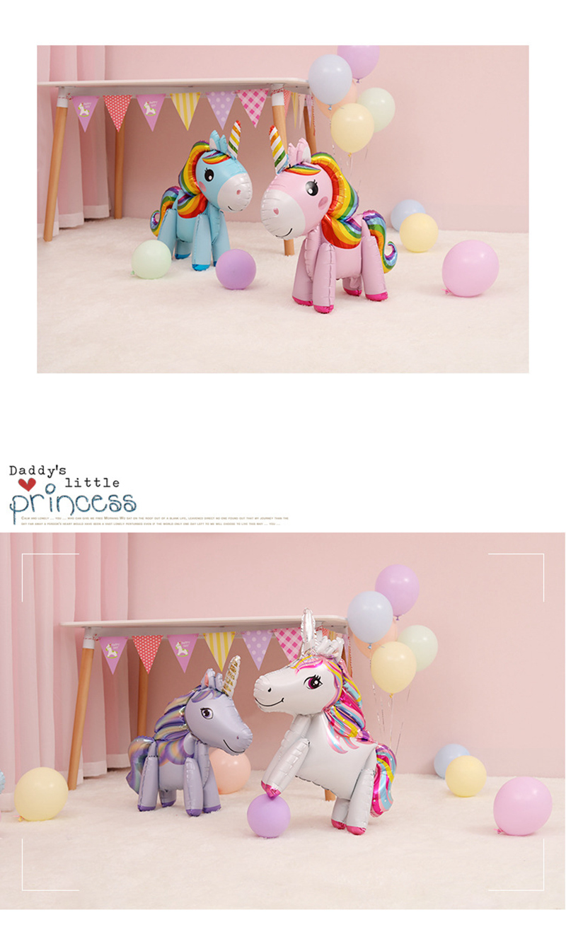57cm Rainbow Unicorn Balloons For Unicorn Birthday Balloon Party 10