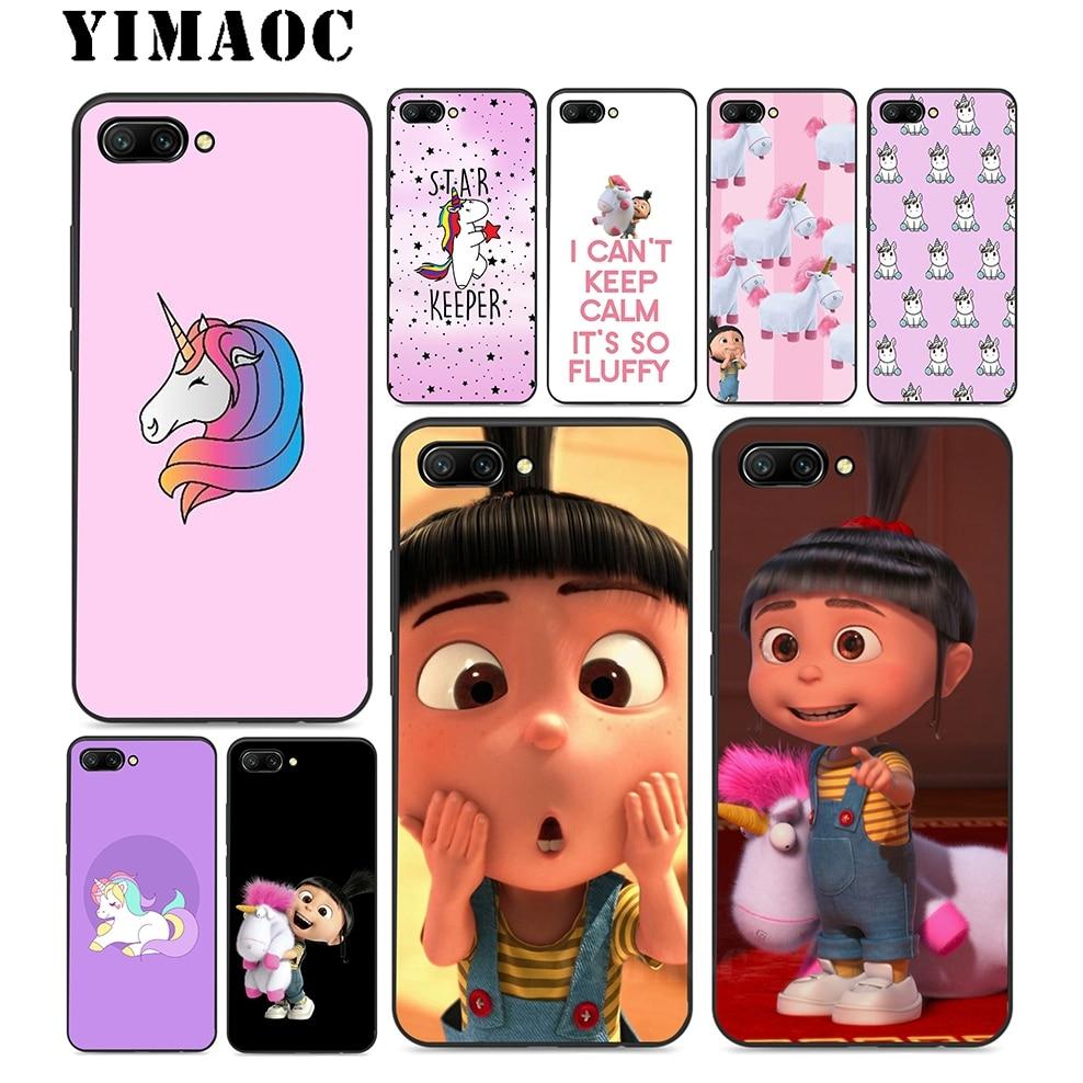 YIMAOC My Unicorn Agnes Soft TPU Black Silicone Case For Huawei Honor Mate P20 P10 P9 P8 10 9 8 P Smart Y6 6A Lite Pro 2017