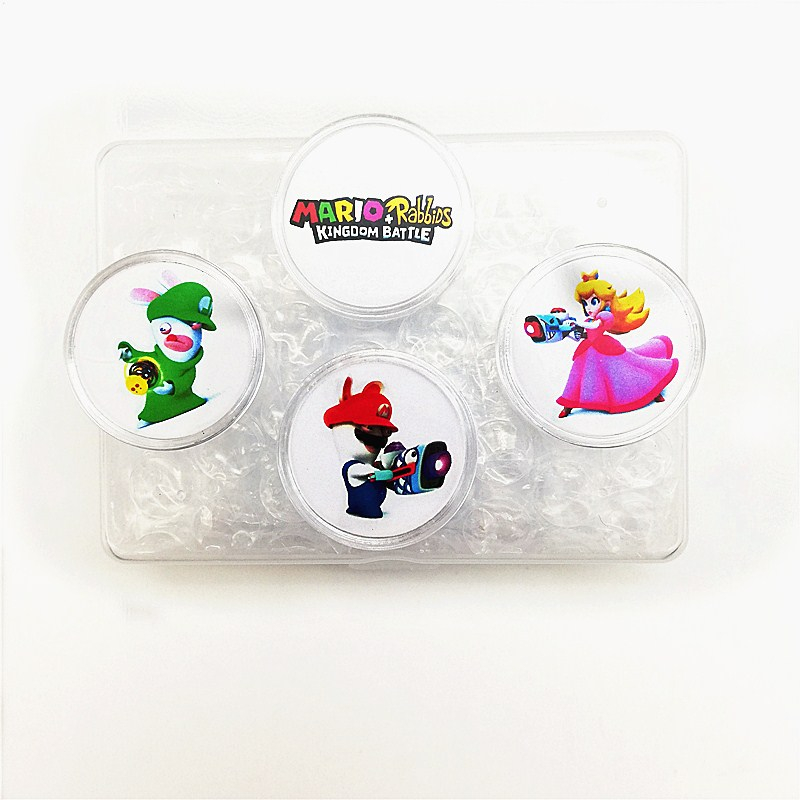 4Pcs/lot Mario Rabbids Kingdom Battle OF Amiibo NFC Card Coin Tag Zelda Smash Splatoon Kart Diablo Super Fire Emblem Switch