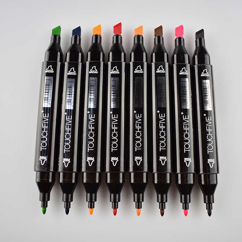 Оригинальный TOUCHFive один черный акриловый художественный маркер с двумя головками спиртовой эскиз Маркеры Ручка для художника 3D Рисунок манга дизайн искусство