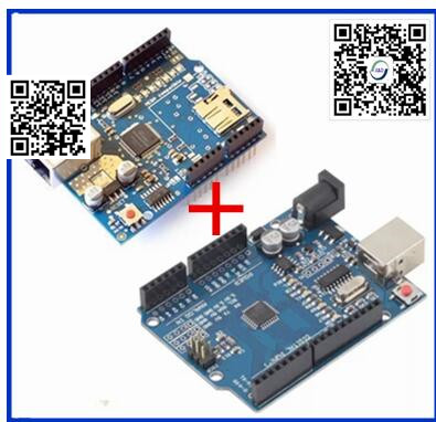 1pair only good quality Ethernet W5100 network expansion board SD card Shield for arduino without usb cable