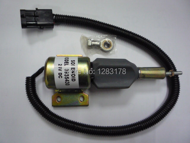 Free shipping! Fuel Shutdown Solenoid Valve 3935430,3935432,3939703,SA-4755-24,SA-4892-24 24V fuel shutdown solenoid 1823723c91 sa 4338 24 for cummins navistar 24v