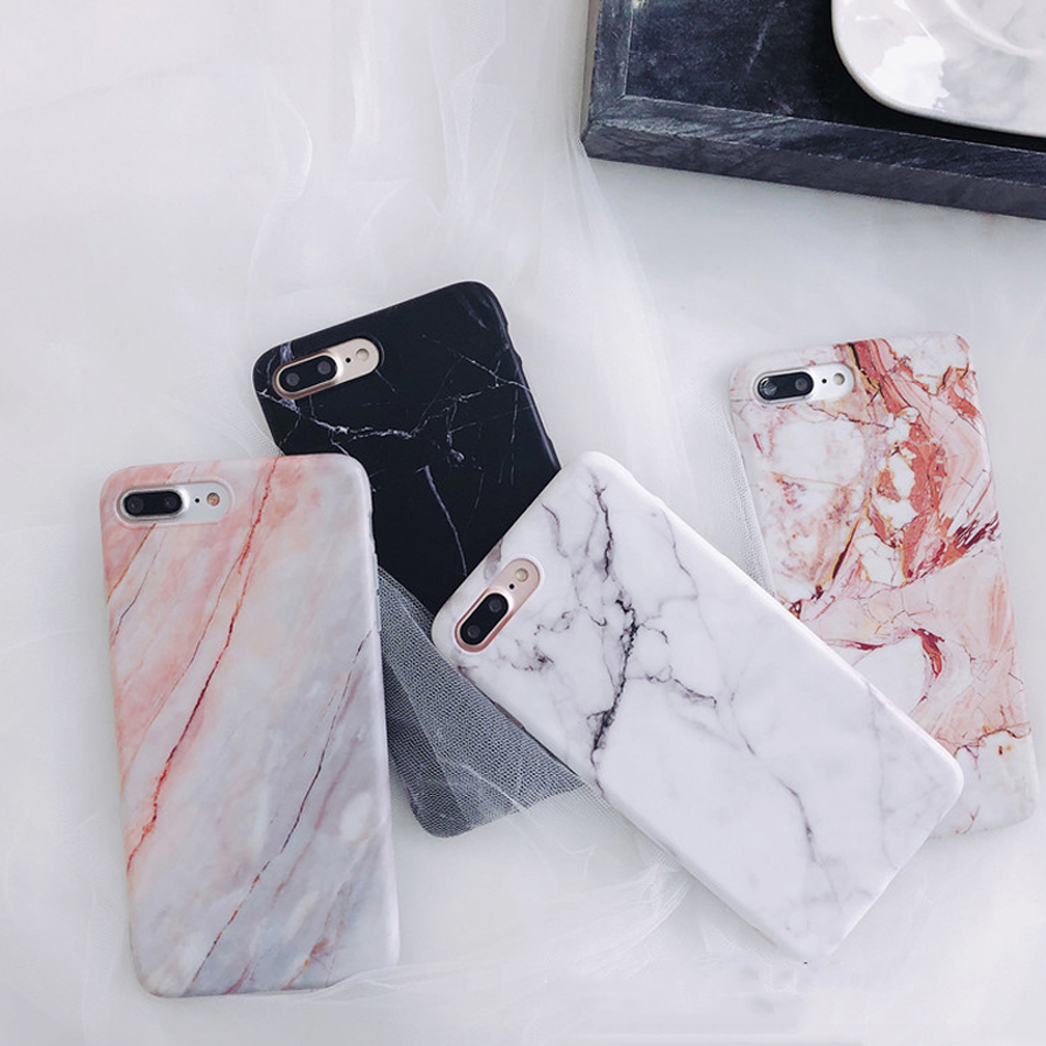 Moskado Shell Phone Case With Glossy Granite Marble Stone Cover For iPhone 11 Pro X XS Max XR 6