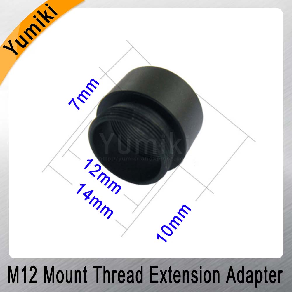 Image 5 - Yumiki 2pcs/lot Mount Thread Extension Adapter Zinc Alloy Extender M12 Lens Extension Ring for MTV Interface CCTV Lens-in CCTV Parts from Security & Protection